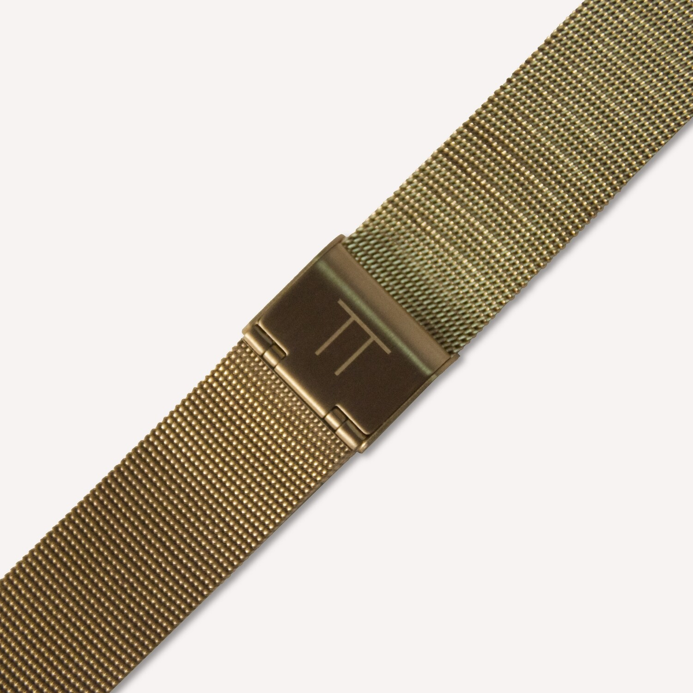 Gold mesh strap