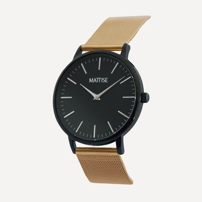 Meis³ with Gold mesh strap