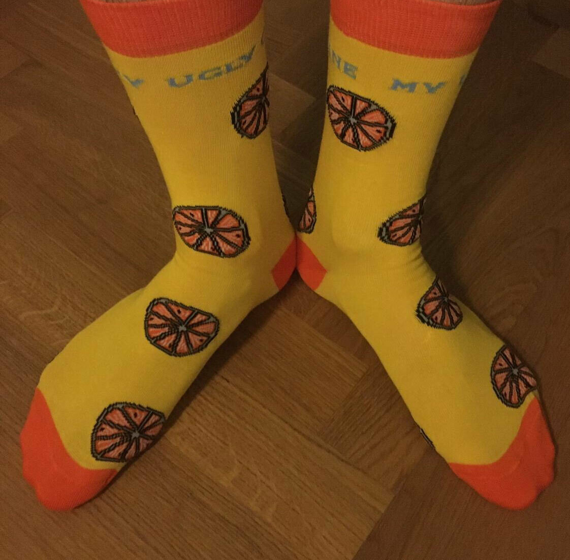 My Ugly Clementine Socks