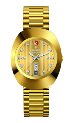 The Original Automatic Diamonds Gold Dial 35MM R12413703