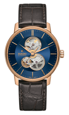 Coupole Classic Open Heart Navy Blue 41MM Automatic R22895215