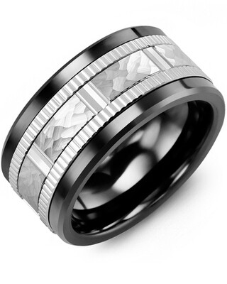 MLQ MOD - Men's Hammer Design Eternity Edges Wedding Ring