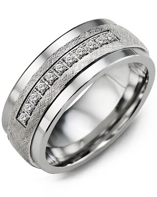 MKF - MOD Men's Brushed Diamond Wedding Band