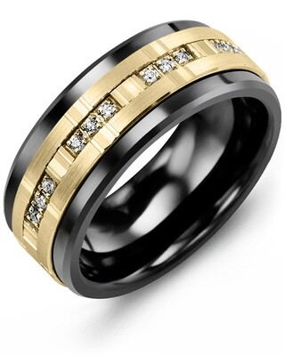 MJA - MOD Men's Trio Diamonds Wedding Band