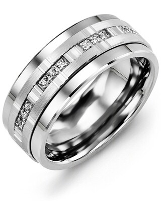 MJA - GLD Men's Trio Diamonds Wedding Band
