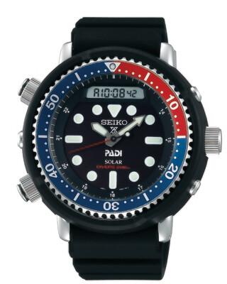 """Prospex Black Dial 48MM PADI Diver """" Arnie """" PEPSI Bezel Solar SNJ027"""