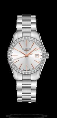Conquest Classic Silver Dial 34MM Quartz L23860726