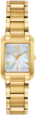 Bianca White Mother of Pearl Dial 28MM Eco-Drive EW5552-53D