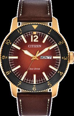 Citizen Brycen Orange Dial 43.5MM Eco-Drive AW0076-03X