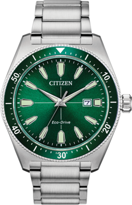 Brycen Green Dial 43MM Eco-Drive AW1598-70X