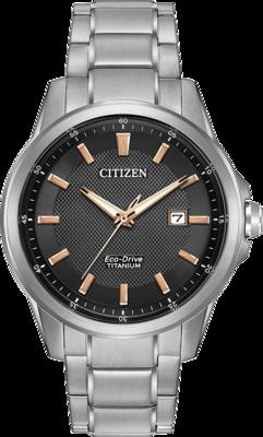 Citizen Chandler Black Dial 42MM Eco-Drive AW1490-50E