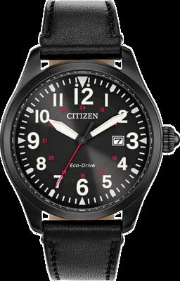 Citizen Garrison Black Dial 42MM Eco-Drive BM6835-15E