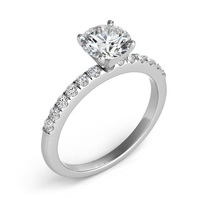 Four Prong Thin Ring
