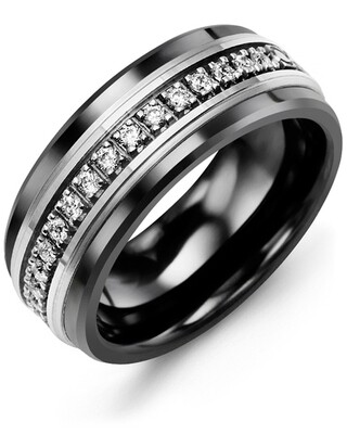 RLQ MOD - Men's Medium Eternity Diamond Wedding Band