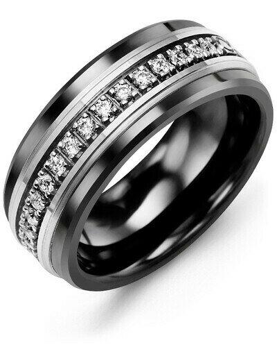 RLQ MOD - Men's Medium Eternity Diamond Wedding Band