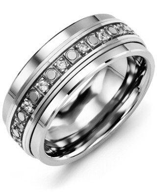 RLP MOD - Men's Medium Eternity Illusion Diamond Wedding Band