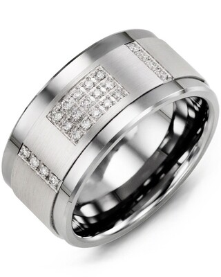 MJD MOD - Men's Wide Diamond Wedding Band