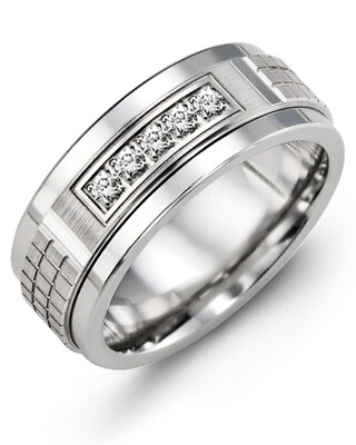 MKC MOD - Men's Carved Diamond Wedding Band