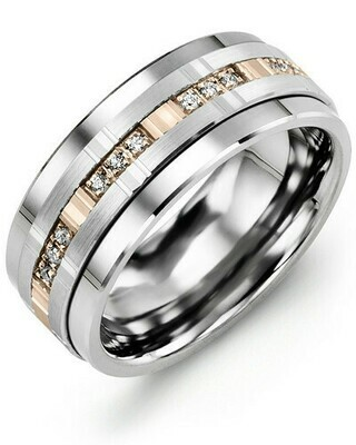 MBW MOD - Men's Multi Trio Diamonds Wedding Band
