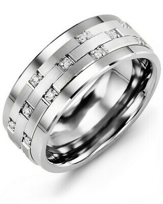 MBS MOD - Men's Scattered Diamond Wedding Ring