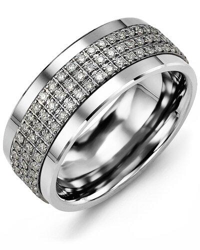 MKK MOD - Men's Three Row Eternity Diamond Wedding Band