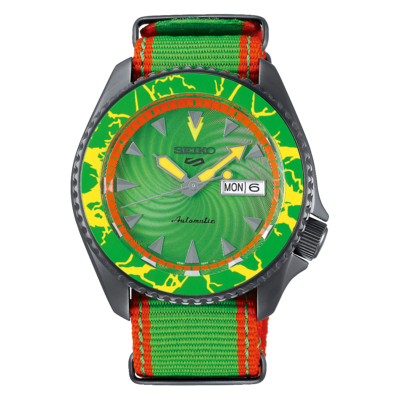 """Seiko 5 Sports Special Edition Street Fighter """"Blanka"""" Dial 43MM Automatic SRPF23K1"""
