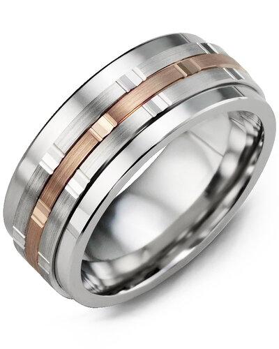 MJL MOD - Men's Vertical Trio Diamond Wedding Ring