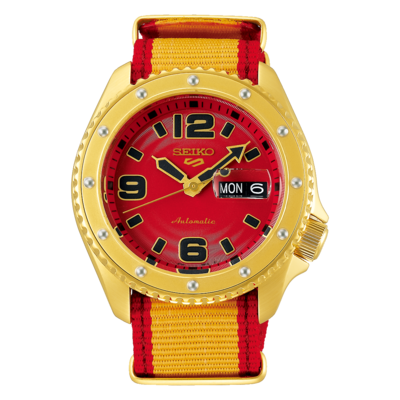 """Seiko 5 Sports Special Edition Street Fighter """"Zangief"""" Dial 43MM Automatic SRPF24K1"""