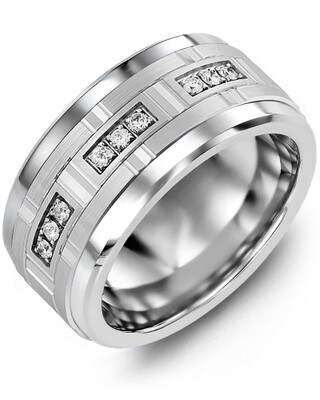 MKV MOD - Men's Large Diamonds Centerpiece Wedding Ring