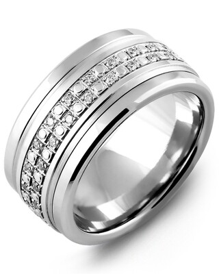 MLA MOD - Men's Eternity Illusion Diamond Wedding Band