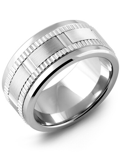 MLD MOD - Men's Wide Eternity Grooved Wedding Band