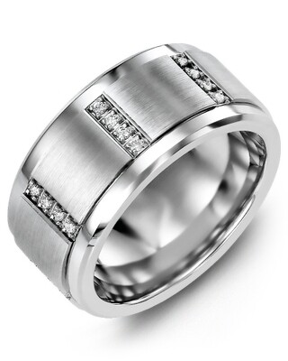 MLJ MOD - Men's Quad Diamond Wedding Ring