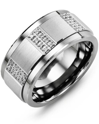 MLT MOD - Men's Quad Duo Diamond Wedding Ring