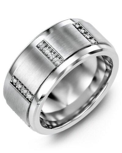 MLJ MOD - Men's Quad Diamond Wedding Ring