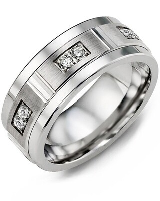 MKD MOD - Men's Quad Duo Diamond Wedding Ring