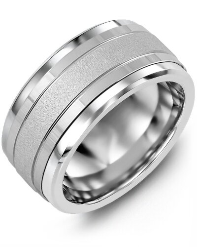 MLN MOD - Men's Textured Polished Wedding Ring