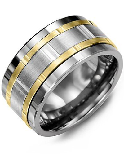 MJP MOD - Men's Multi-Faceted Wide Wedding Band