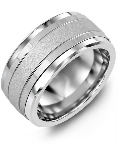 MLN MOD - Men's Textured Polished Wedding Ring