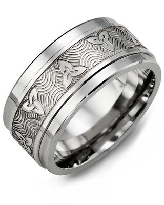 MJT MOD - Men's Celtic Love Symbol Wedding Ring