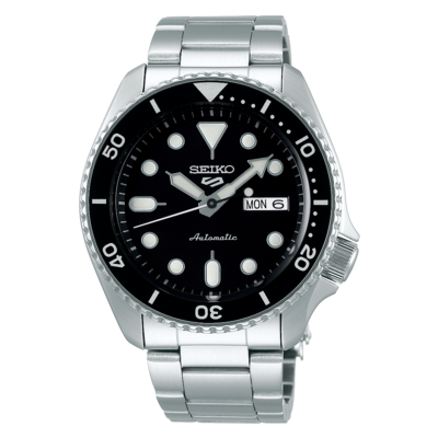 """Seiko 5 Sports Black Dial 43MM """" Sports Style """" Automatic SRPD55K1"""