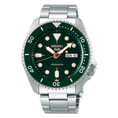 """Seiko 5 Sports Green Dial 43MM """" Sports Style """" Automatic SRPD63K1"""
