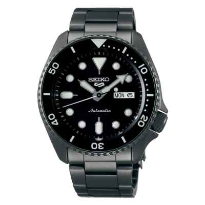 """Seiko 5 Sports Black Dial 43MM """" Sports Style """" Automatic SRPD65K1"""