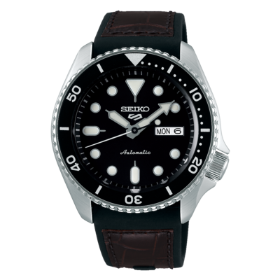 """Seiko 5 Sports Black Dial 43MM """" Specialist Style """" Automatic SRPD55K2"""