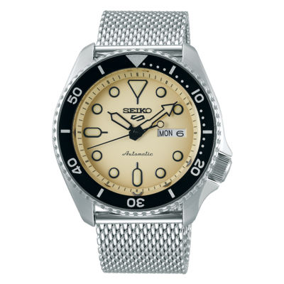 """Seiko 5 Sports Beige Dial 43MM """" Suits Style """" Automatic SRPD67K1"""