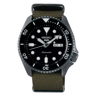"""Seiko 5 Sports Black Dial 43MM """" Sports Style """" Automatic SRPD65K4"""