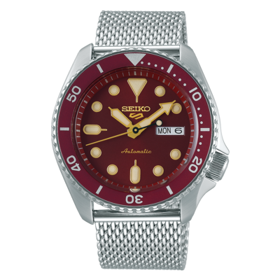 """Seiko 5 Sports Red Dial 43MM """" Suits Style """" Automatic SRPD69K1"""