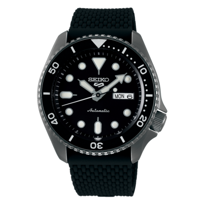 """Seiko 5 Sports Black Dial 43MM """" Suits Style """" Automatic SRPD65K2"""