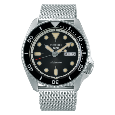 """Seiko 5 Sports Black Dial 43MM """" Suits Style """" Automatic SRPD73"""