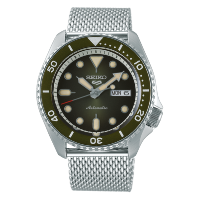 """Seiko 5 Sports Green Dial 43MM """" Suits Style """" Automatic SRPD75K"""