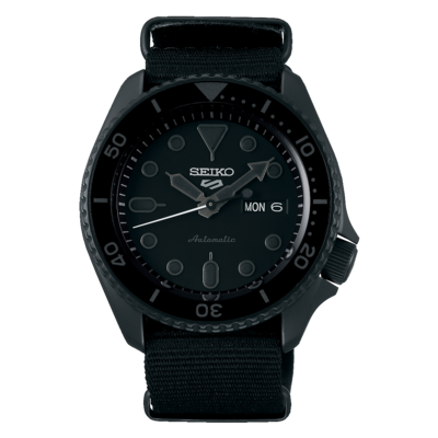 """Seiko 5 Sports Black Dial 43MM """" Street Style """" Automatic SRPD79"""
